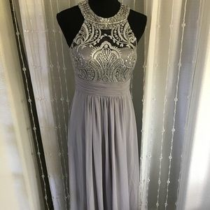NWOT Eliza J Gray Chiffon Dress 2P